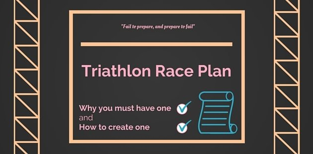 Triathlon race plan