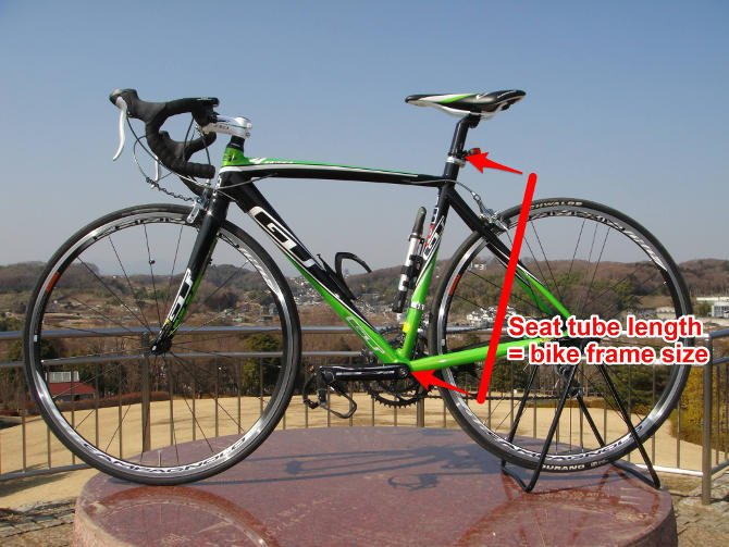 Road/triathlon bike frame size