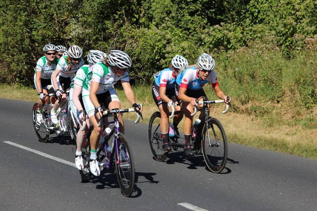Road cycling peloton