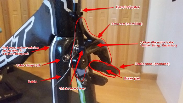 Bike maintenance - brake anatomy